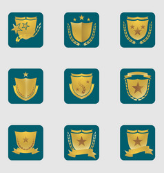 set of different shield emblems vector image