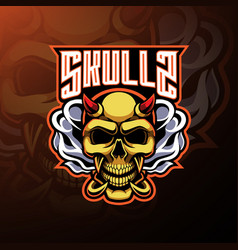 skull devil mascot logo design vector image