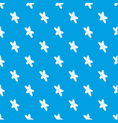 star clothes button pattern seamless blue vector image