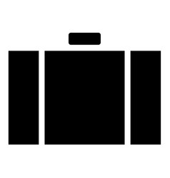 suitcase icon black color flat style simple image vector image