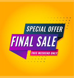 super sale mega this weekend special offer vector image