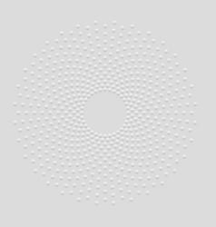 Technology mandala - abstract dotted circle vector