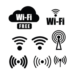 technology wi fi vector image