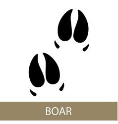 Trace of animal boar vector