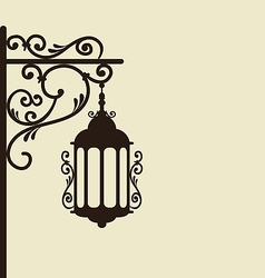 Vintage forging ornate street lantern isolated vector image