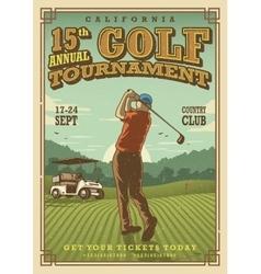 Vintage golf poster vector image
