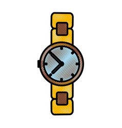 Vintage wristwatch accesorie vector