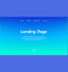 web site landing page business template vector image