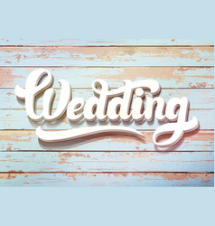 wedding invitation vintage wooden background vector image