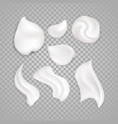 white cream elements vector image