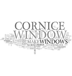 Window cornice text word cloud concept vector