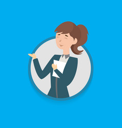 woman employee vector image