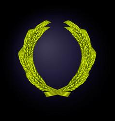 wreath wheat color green vector image