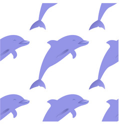 dolphin seamless pattern vector image vector image
