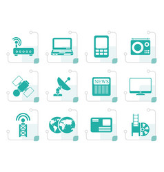 stylized business technology communications icon vector image