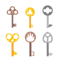 vintage or antique door key isolated access vector image vector image