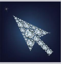 arrow cursor shape made up a lot of diamonds vector image vector image