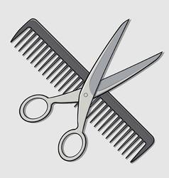 Barber Scissor and Comb vector image