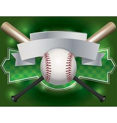 baseball bat label vector image vector image