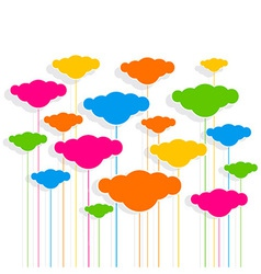 cloud design pattern background vector image