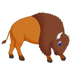 cute bison cartoon vector image