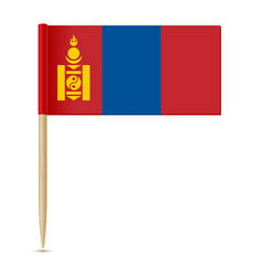 flag of mongolia flag toothpick vector image vector image