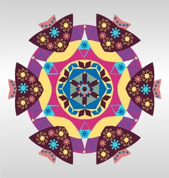 geometric pattern Colorful mandala vector image vector image