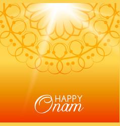 Happy onam greeting card vector