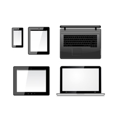 Laptop tablet pc computer and mobile smartphone vector image