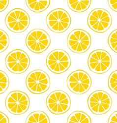 lemon seamless pattern white background vector image