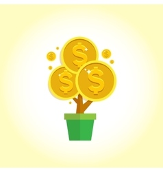 Money tree - symbol of successful business vector