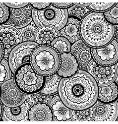 Nature seamless pattern Mehndi style vector image vector image
