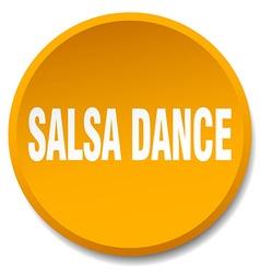Salsa dance orange round flat isolated push button vector
