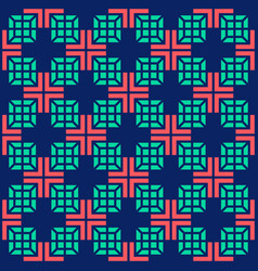 seamless medical abstract pattern with crosses and vector image vector image