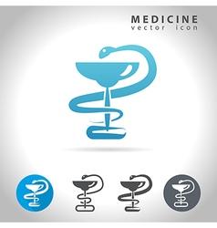 medicine blue icon vector image vector image