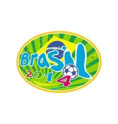 Brasil 2014 Soccer Football Ball vector image vector image
