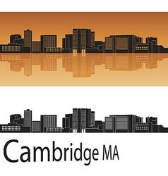 Cambridge skyline in orange vector image vector image