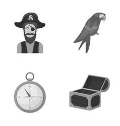 pirate bandit hat bandage pirates set vector image vector image