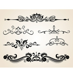 vintage scrolls vector image vector image