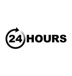 24 hours icon black vector image