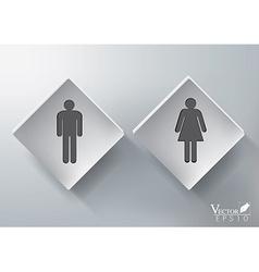 3D Restroom Sign Design vector