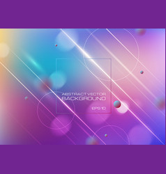 Abstract blurred colors background with lighting vector