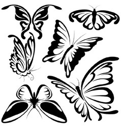 Abstract butterflies vector