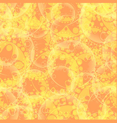abstract pastel pattern of gears and spheres in a vector image