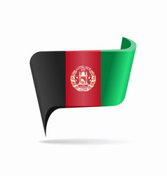 Afghani flag map pointer layout vector