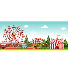 Amusement park at daytime vector