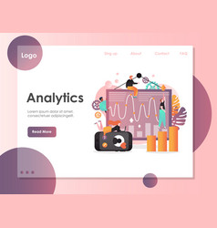 analytics website landing page design vector image