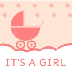 Baby shower its a girl vector