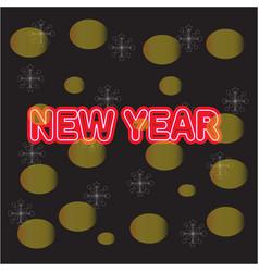 beautiful christmas golden deco baubles on dark vector image