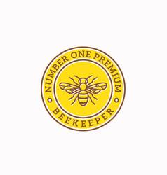 Beekeeper abstract sign badge or logo vector
